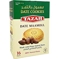 Tazah Maamoul Date Cookies 16 Pieces Individually Wrapped