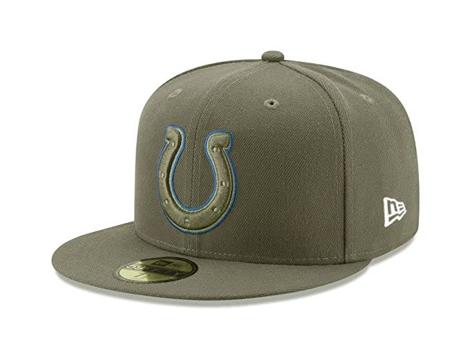 New Era 59Fifty Hat Indianapolis Colts NFL On-Field Salute to Service  Fitted Cap ( dfb260df0