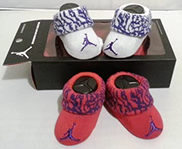 Amazon.com: Nike Jordan Jumpman New Born Baby Booties (Rojo ...
