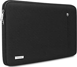 "TECOOL 14 Inch Laptop Sleeve Protective Case Cover with Front Pocket for HP 14"" HD/Stream 14/Pavilion 14, Lenovo 14"" IdeaPad 3 ThinkPad T490, Dell Acer ASUS 14"" Notebooks Chromebooks, Black"