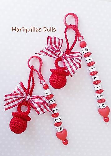 Nuevo!! Chupete a crochet PERSONALIZADO: Amazon.es: Handmade