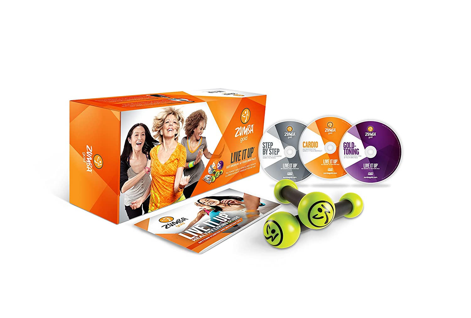 Zumba Fitness Gold Live It Up DVD Set - Best Zumba dvd for seniors