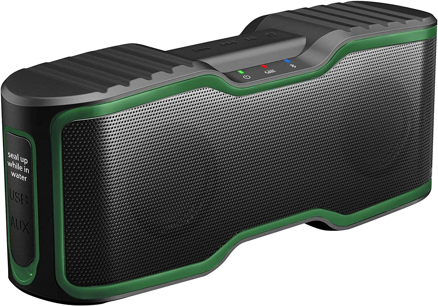 AOMAIS Sport II Portable Wireless Bluetooth Speakers Waterproof IPX7, 15H Playtime, V5.0, 20W Bass Sound, Stereo Pairing, for Outdoors, Travel, Pool, Home Party 2020 Upgrade Deep Green