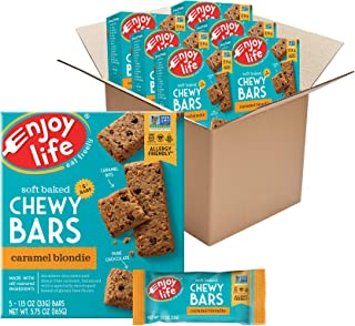 product image for Enjoy Life Foods Chewy Bars, Caramel Blondie Nut Free Bars, Soy Free, Dairy Free, Non GMO, Gluten Free, 6 Boxes (30 Total Bars)