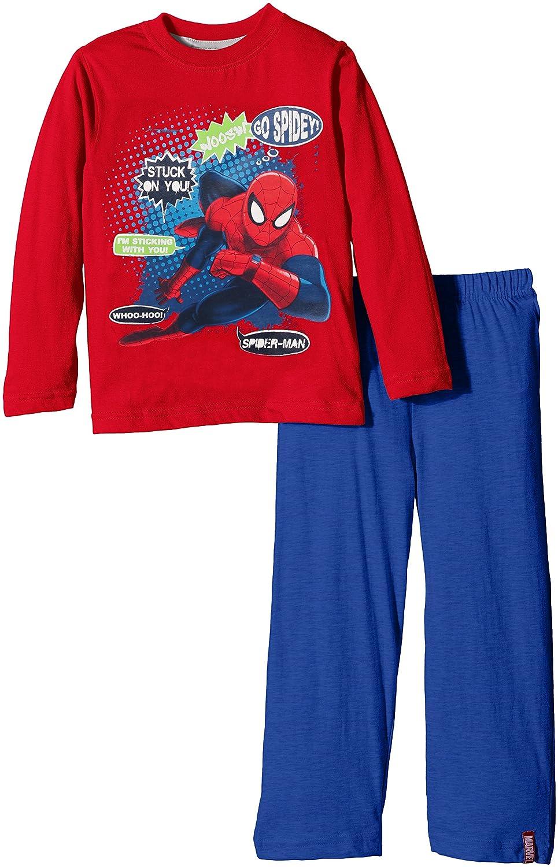 Marvel Spiderman - Pijama para niños, color azul (real), talla 3 años: Amazon.es: Ropa y accesorios