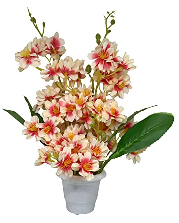 5e1ca401779 Buy Ethnic Karigari Artificial Flowers with Vase for Gifts and Home ...