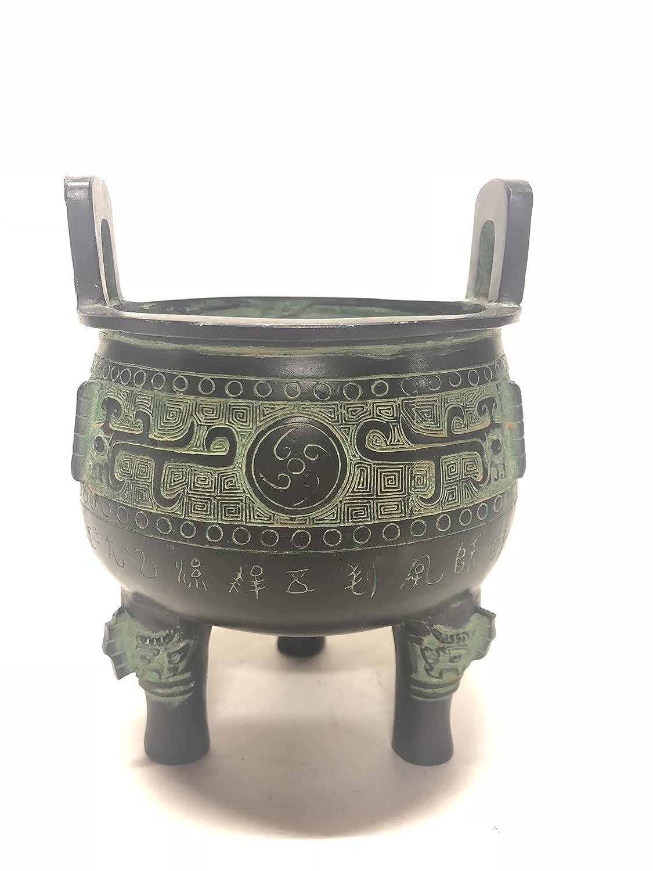 青銅器 骨董複製品 円鼎 龍紋 KZ-S-019 B07DHGV57Q