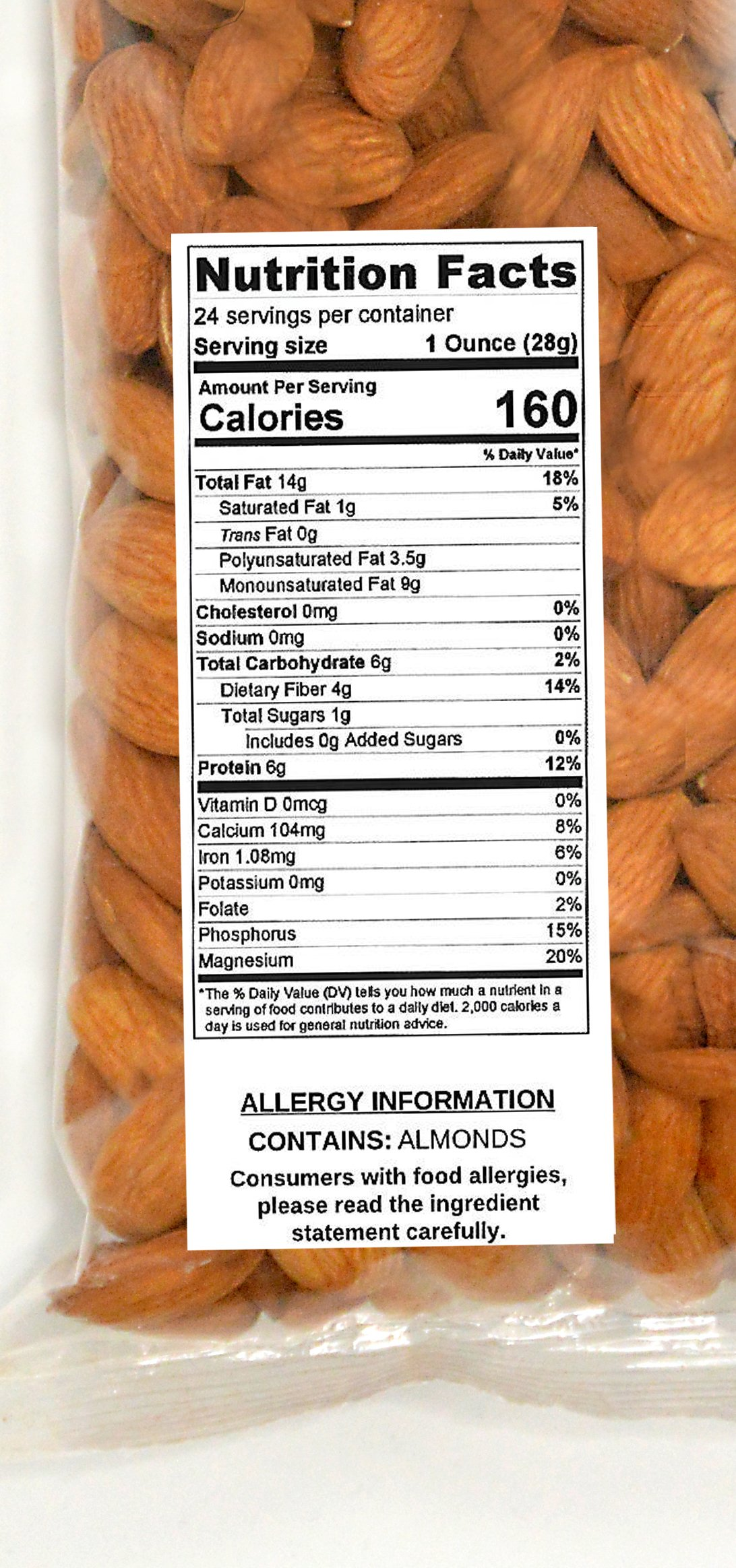 Wild Soil Almonds - Distinct and Superior to Organic, Steam Pasteurized, Probiotic, Raw 1.5LB Bag by Wild Soil (Image #2)