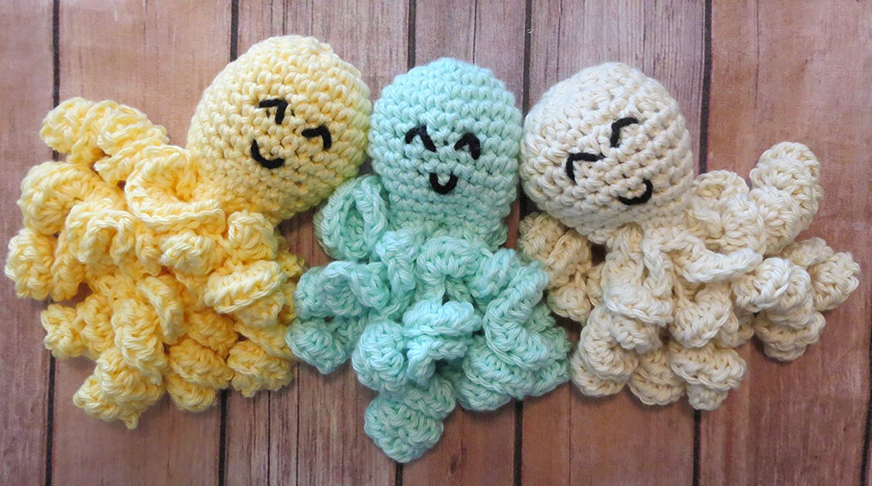 Amazon Crochet Nicu Preemie Neutral Colors Stuffed Octopus