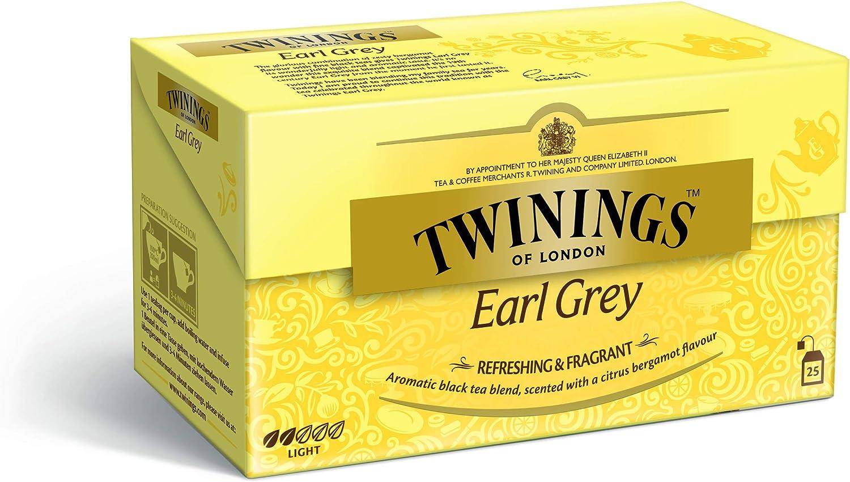 Infusión Twinings Té Earl Grey 25Sobres: Amazon.es: Alimentación y bebidas