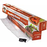 Multi-Purpose Oven Bags For Cooking - Works Great For Cooking, Roasting, Baking & Brining Chicken, Meat (No Turkey!), Seafood & Vegetables - 10ft x12in - Up to 10 uses - Good for Juicy Dinner