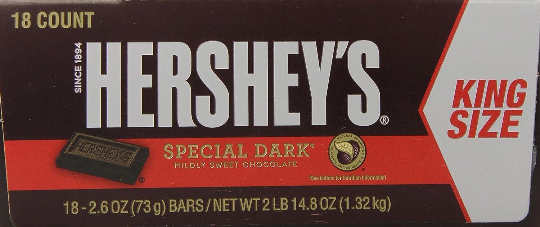Amazon.com : HERSHEY'S SPECIAL DARK Bar, Mildly Sweet Chocolate ...