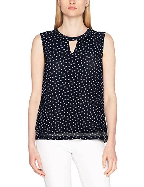 s.Oliver 5706342582, Camiseta sin Mangas para Mujer, Azul (Summer Navy AOP 58A3), 44