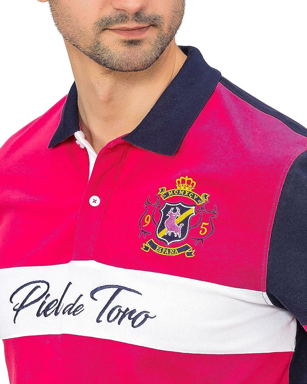 Piel de Toro Bordado TAURINO con Franja Horizontal Y Parche Polo ...