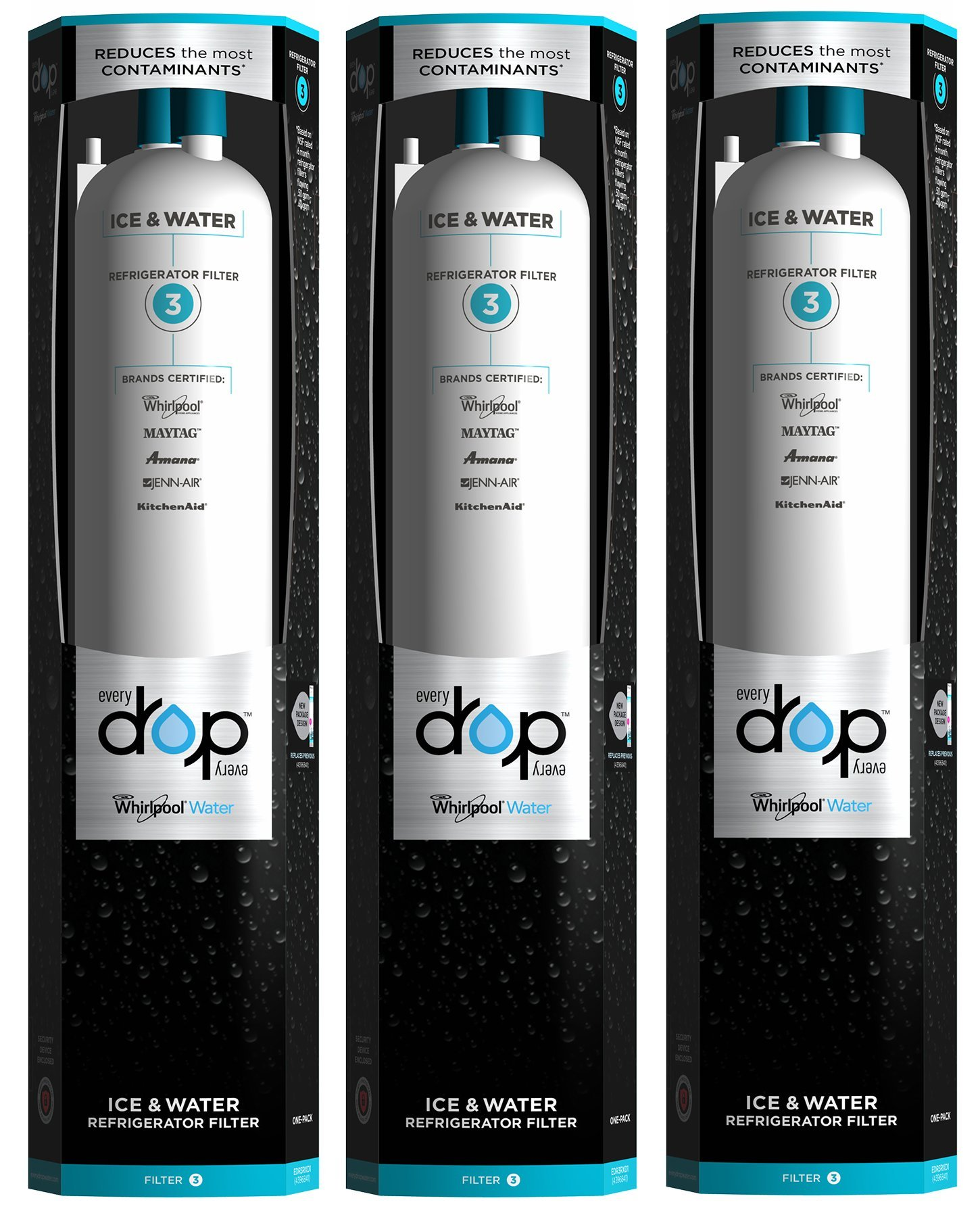 EveryDrop by Whirlpool Refrigerator Water Filter 3 (Pack of 3)
