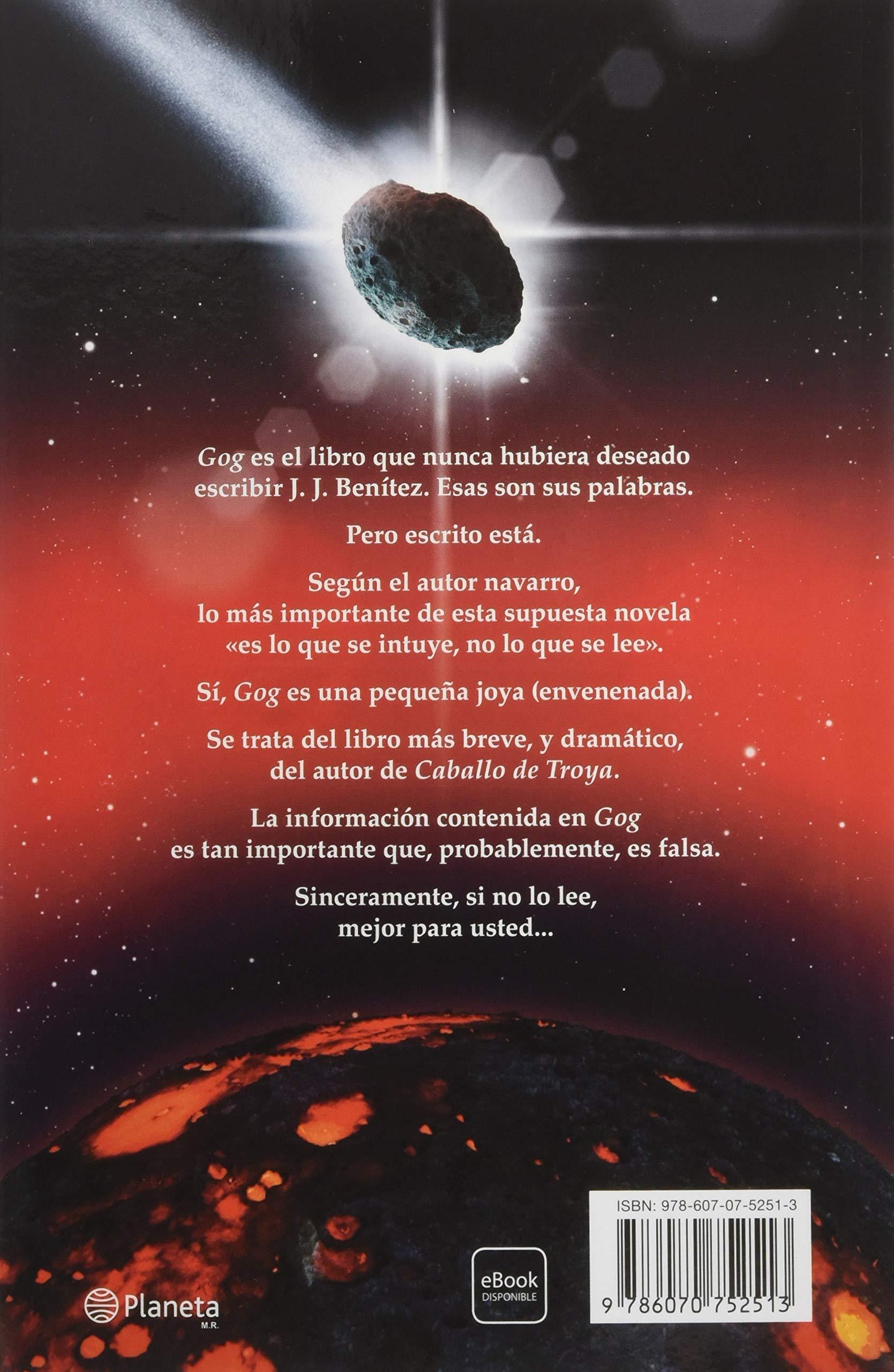 Gog: Empieza La Cuenta Atrás: Amazon.es: J. J. Benitez: Libros