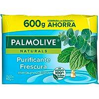 Palmolive Naturals Jabón en Barra Menta y Eucalipto Fabricado responsablemente, con Humectante natural, Fragancia con…