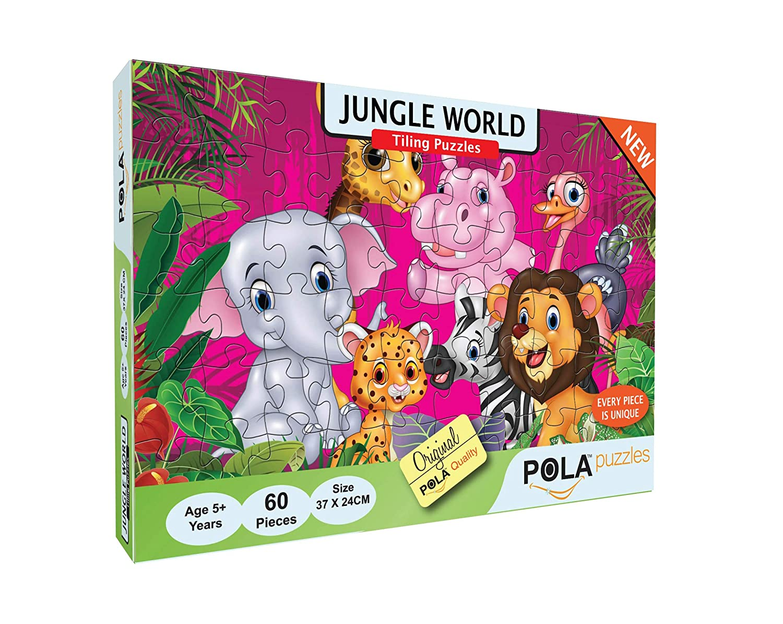 Pola Puzzles Jungle World 60 Pieces Tiling Puzzles