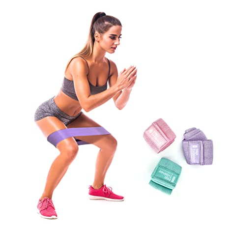 Magnetic Think Booty Bands Workout Resistance Hip Bands Set Of 3