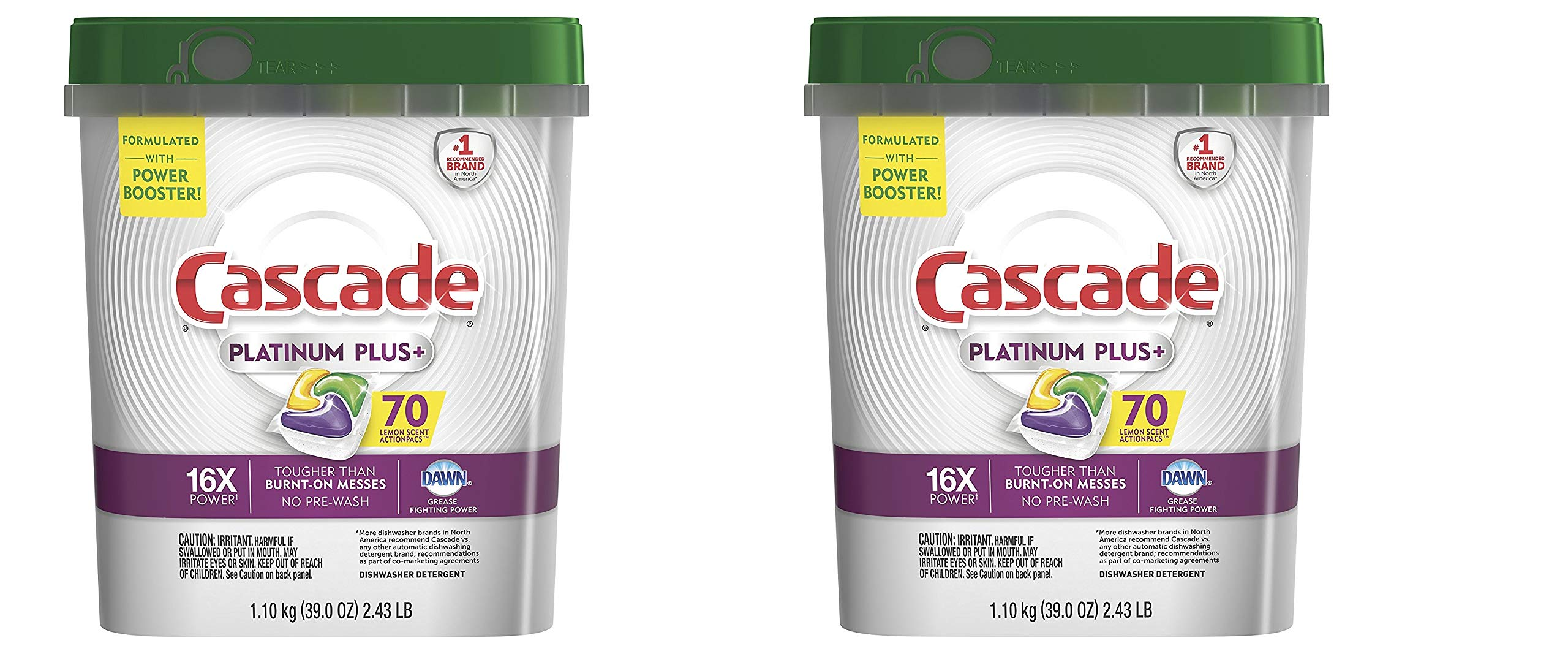 Cascade Platinum ActionPacs Dishwasher Detergent, Fresh