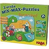 Haba 302546 - 3 Mix-Max Puzzles - Bauernhof
