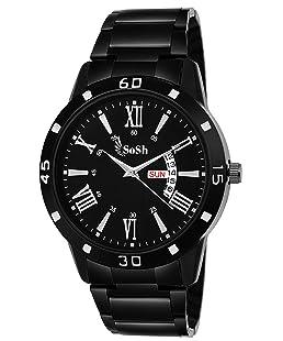 SoSh Analogue Black Dial Men's Watch