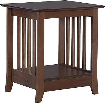Amazon.com: Linon Home Decor Products Emilio End Table, Cappuccino