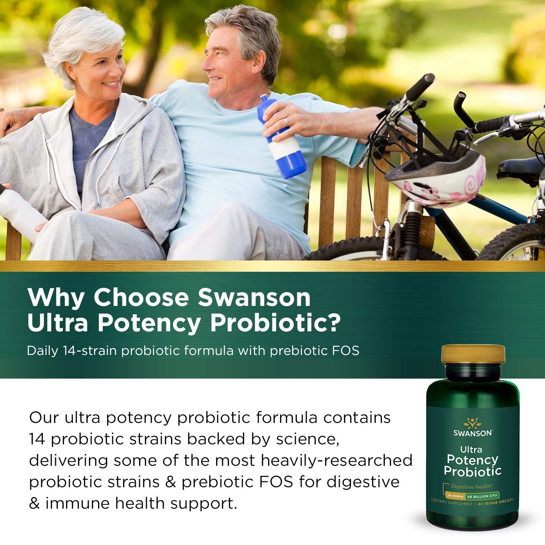 Swanson Ultra Potency Probiotic Digestive Health Immune System Support 66 Billion CFU Prebiotic NutraFlora scFOS 60 DRcaps Veggie Capsules (Caps) (2 Pack) by Swanson (Image #6)