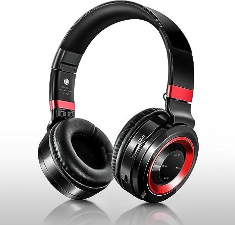 Auricular Bluetooth, acc-smart estéreo Bluetooth auriculares con micrófono diadema plegable portátil música Bass auriculares para teléfonos móviles para ordenador portátil Tablet TV auriculares: Amazon.es: Electrónica