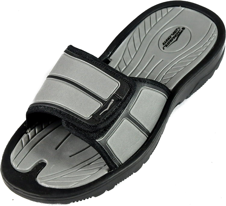 SLR Brands Mens Adjustable Sandals Shower Flip Flops for Men Arch Support for Athletes Gym Slides Nonslip Mens Slide On Sandals for Shower Multiple Sizes and Colors Pool Beach Summer