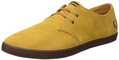 Fred Perry Byron Mid Suede, Zapatos de Cordones Oxford para Hombre, Marrón (Dark Chocolate), 45 EU