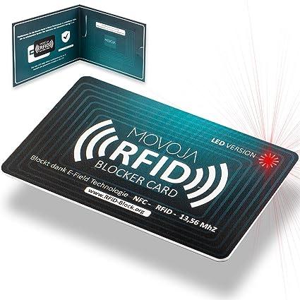 Tarjeta bloqueadora de RFID con tecnología de indicador LED ...