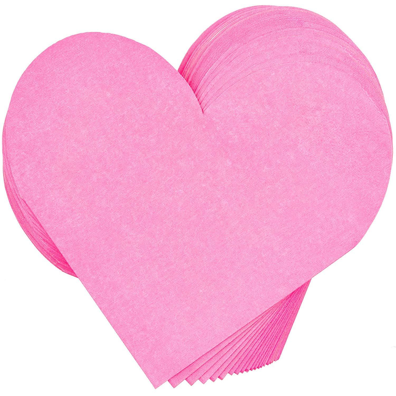 16,5 x 16,5 cm, rosa, 50 pezzi Blue Panda Tovaglioli fustellati a forma di cuore