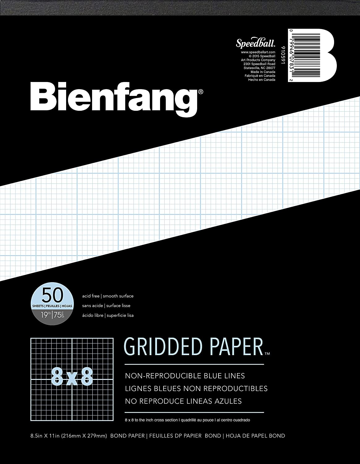 amazon com bienfang designer grid paper 50 sheets 8 1 2 inch by amazon com bienfang designer grid paper 50 sheets 8 1 2 inch by 11 inch pad 8 by 8 cross section arts crafts sewing