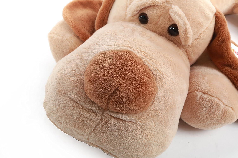 YunNasi gigante perro de peluche tendido boca abajo hecho a mano 120cm marrón: Amazon.es: Juguetes y juegos