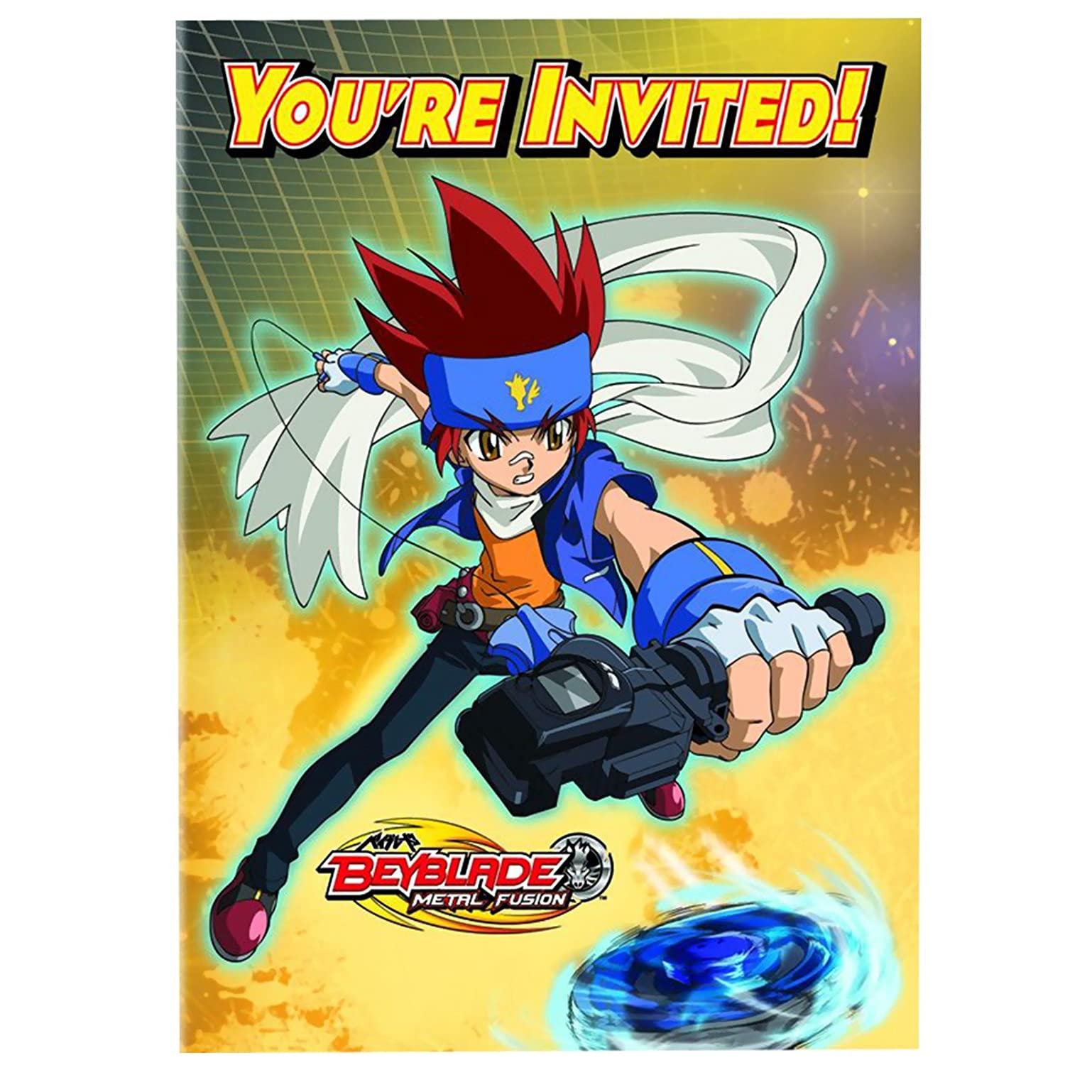 Amazoncom Beyblade Invitations w Envelopes 8ct Toys Games