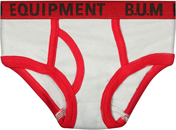 B.U.M Solids and Prints Equipment Toddler and Little Boys 6 Pack Underwear Briefs