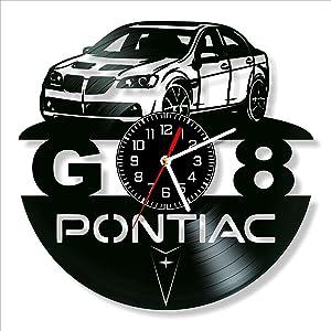 Pontiac G8 Vinyl Clock, Pontiac G8 Wall Clock 12 inch (30 cm), Original Gifts for Fans Pontiac G8, The Best Home Decorations, Unique Art Decor, Original Idea for Home Decor