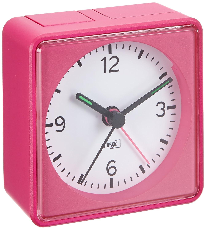 Wecker ohne zeiger  Amazon.de: Lautlos-Wecker TFA Push Pink Sweep-Uhrwerk ohne Ticken