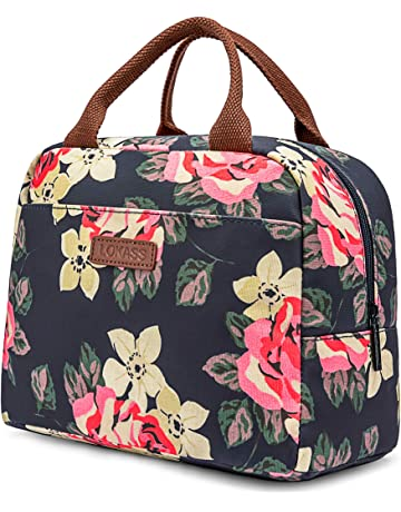 6a03fc80985 LOKASS Lunch Bag Cooler Bag Women Tote Bag Insulated Lunch Box  Water-resistant Thermal Lunch