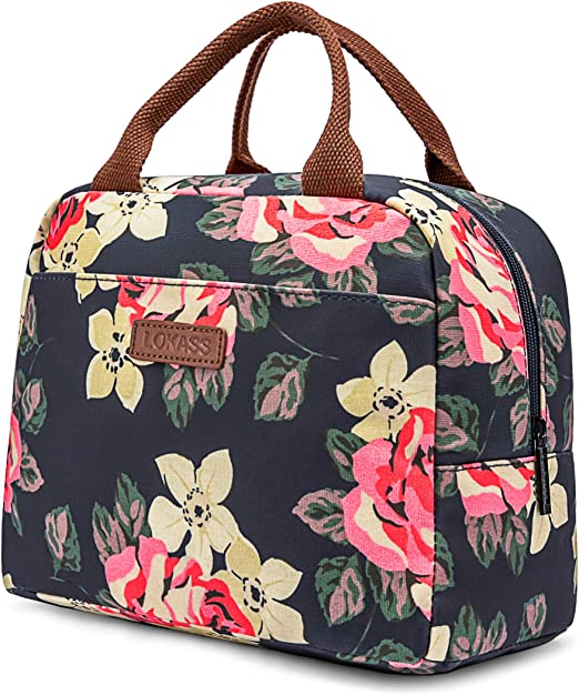 RONAVO Lunch Bag Cooler Bag Women Tote Bag Insulated Lunch Box Water-Resistant
