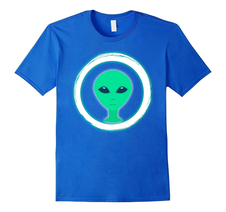 Neon Party Alien Head Theme Party Shirt Glow in Dark T-Shirt-FL