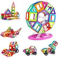 AMOSTING Magnetic Blocks Building Tiles Preschool Educational Construction Stacking Toys for 3 Years Old and Up Toddlers…