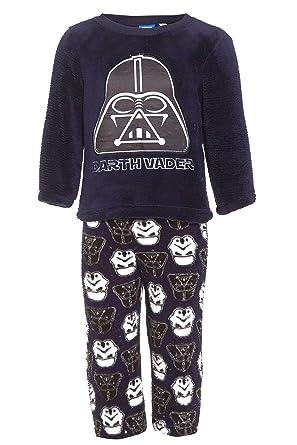0c6a244d87a Boys Darth Vader Pyjamas Star Wars Navy Blue Coral Fleece Cartoon Novelty  Xmas PJs: Amazon.co.uk: Clothing