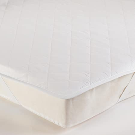 Tesco New Standard Single Quilted Mattress Protector Straps White Amazon Co Uk Kitchen Home