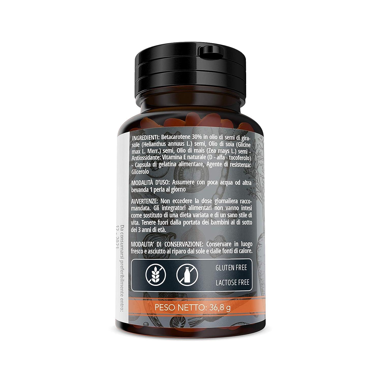 NUTRIVIVA Beta caroteno 80 perlas de 460 mg | Alta disponibilidad de antioxidante proVitamina A | Para un bronceado más intenso y duradero.