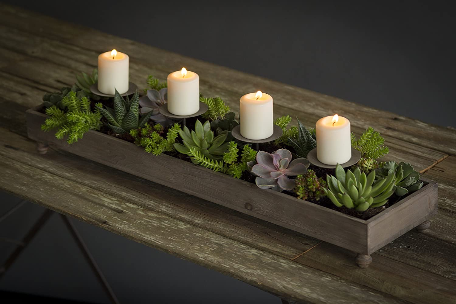 Table Planter/Candle Holders