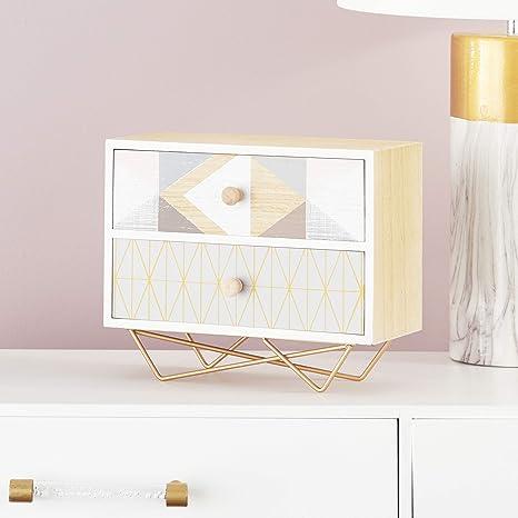 Amazon.com: GWG Outlet de madera caja de joyería de metal 12 ...