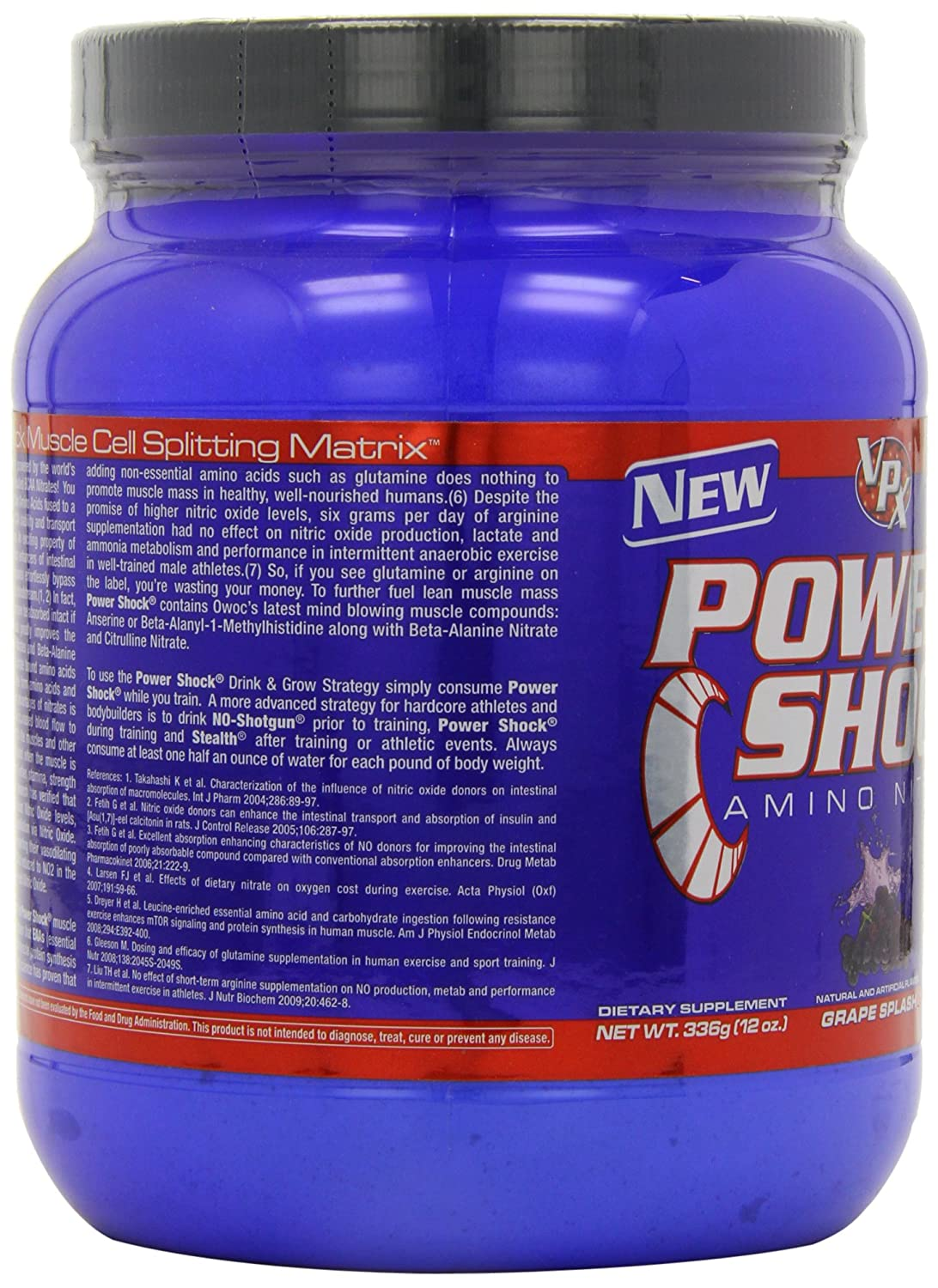 VPX Powershock Amino Nitrate, 364g, Geschmack:Grape: Amazon.de ...