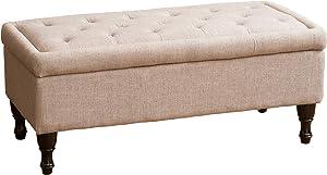 Christopher Knight Home Chantelle Fabric Storage Ottoman, Mixed Grey